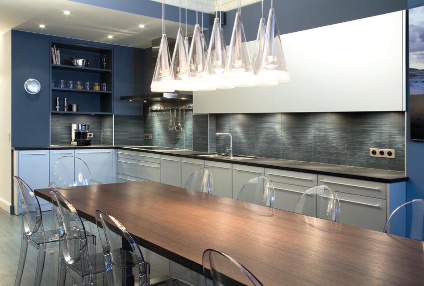 cuisine bleu en L