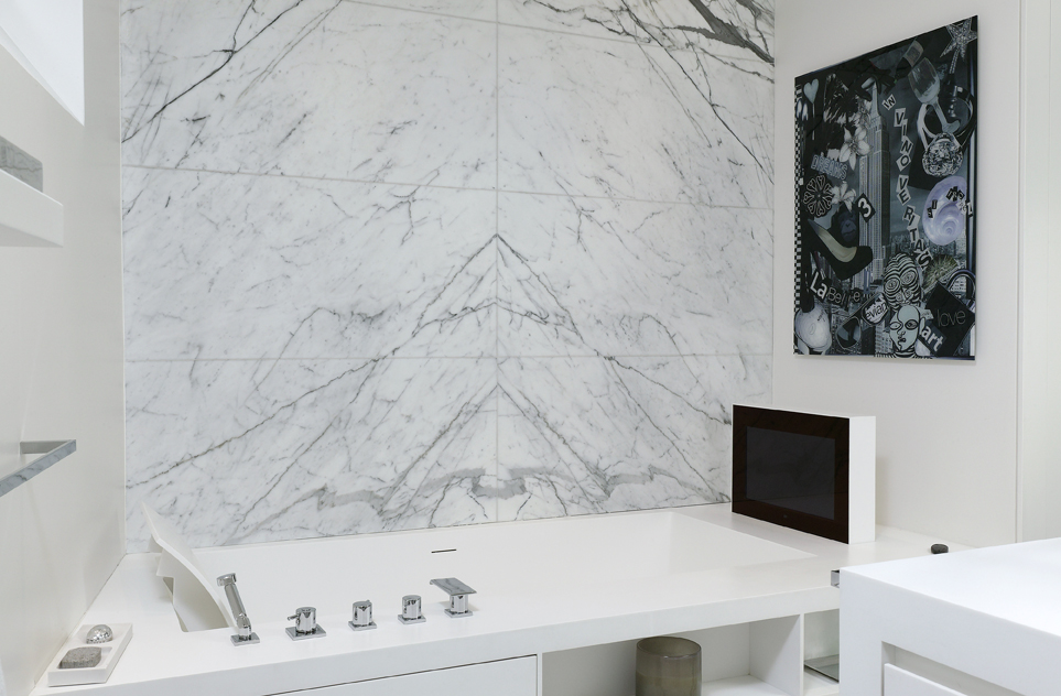 salle de bain marbre