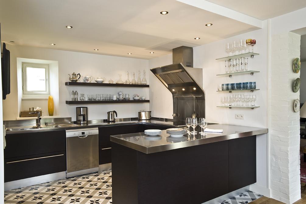 cuisine bicolore blanche noir en L