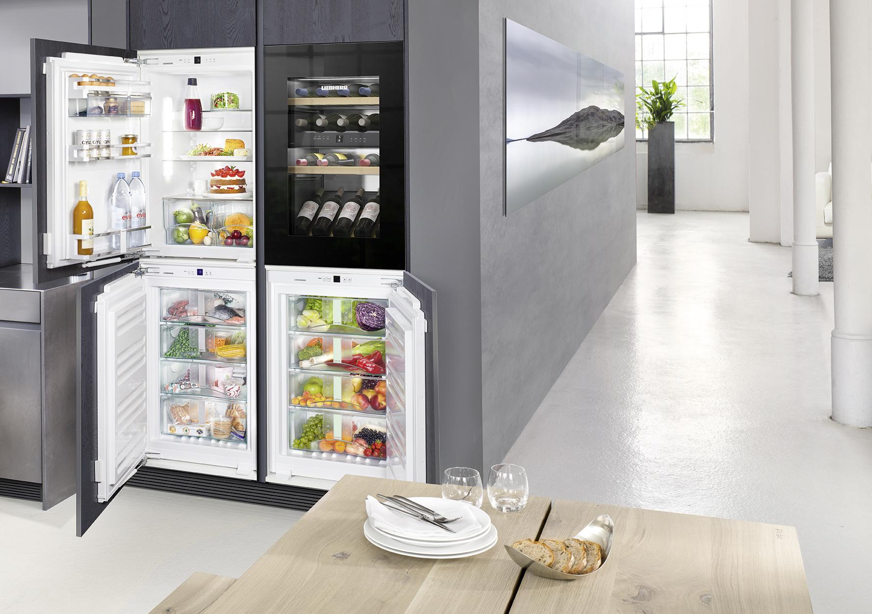frigo cuisine épurée