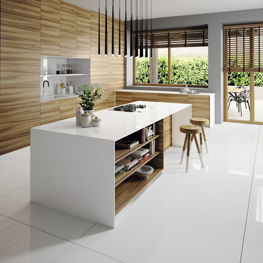Silestone explore toutes les facettes du blanc cuisines for Toutes les cuisines equipees