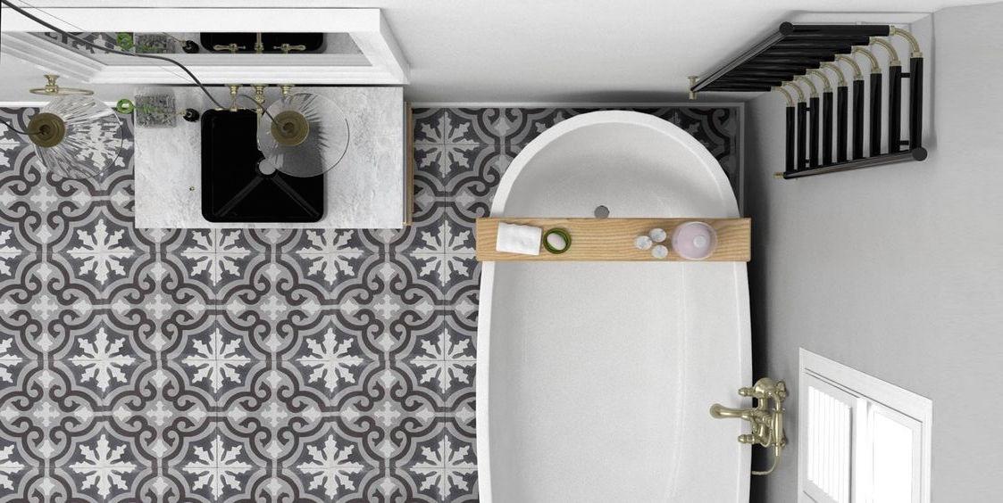 S lection d co l 39 essentiel pour une salle de bains for Quel sol pour une salle de bain