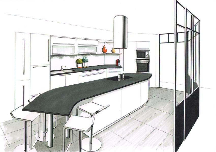 la question de l 39 agencement de la cuisine cuisines et bains. Black Bedroom Furniture Sets. Home Design Ideas