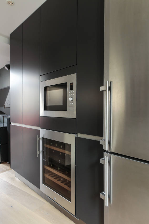 facade armoire noire cuisine