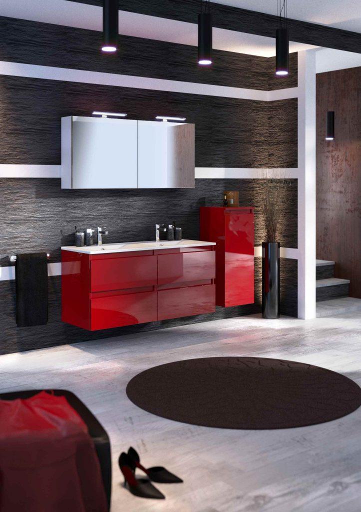 discac salle de bain rivage cristal rouge