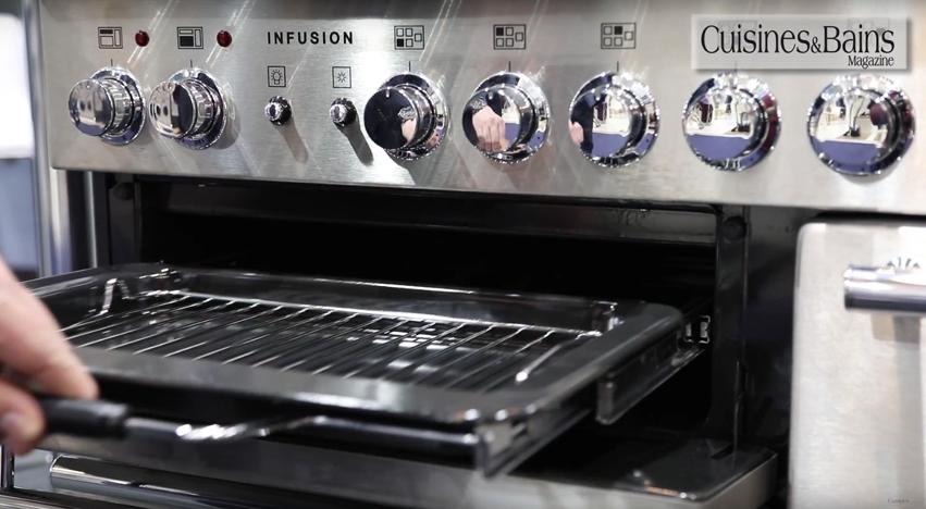 cuisinière métal gris