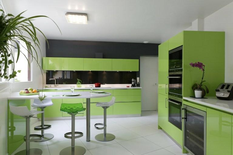 cuisine colorée vert