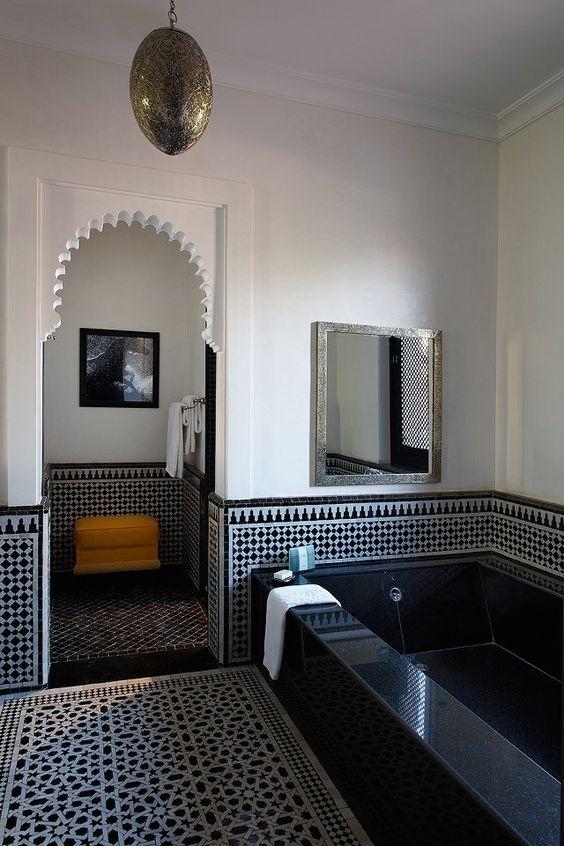 salle de bain orientale