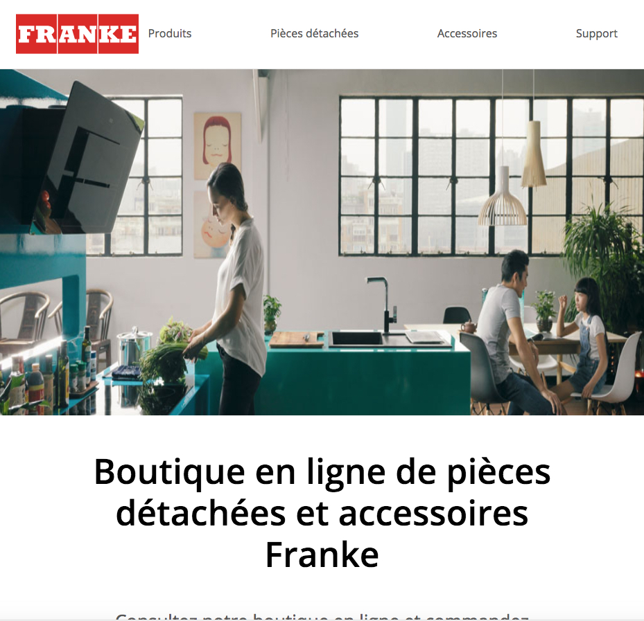 Franke lance une boutique en ligne d di e aux pi ces attach es et aux accessoires cuisines et - Magasin accessoires cuisine ...