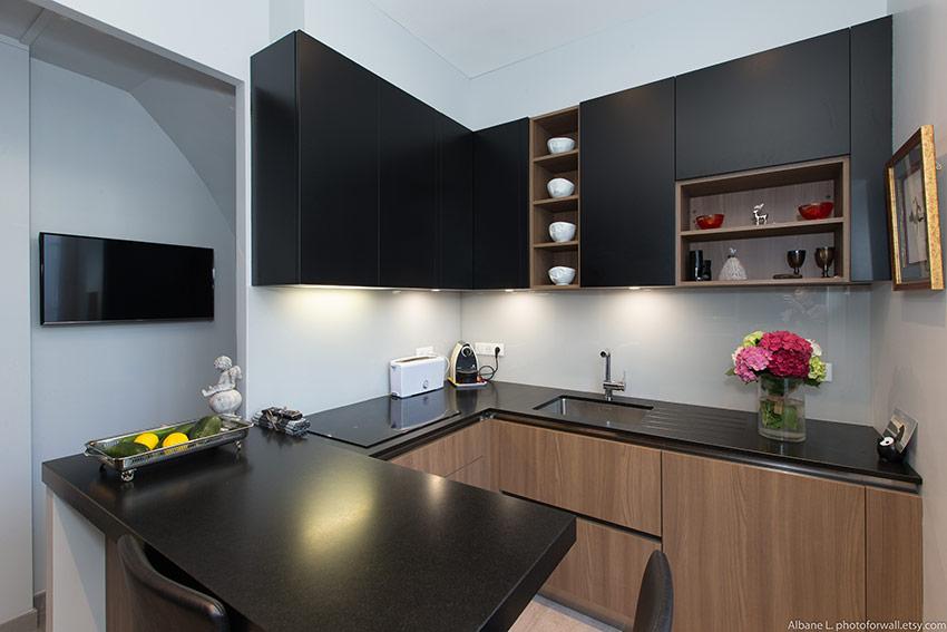 quelle disposition pour sa cuisine cuisines et bains. Black Bedroom Furniture Sets. Home Design Ideas