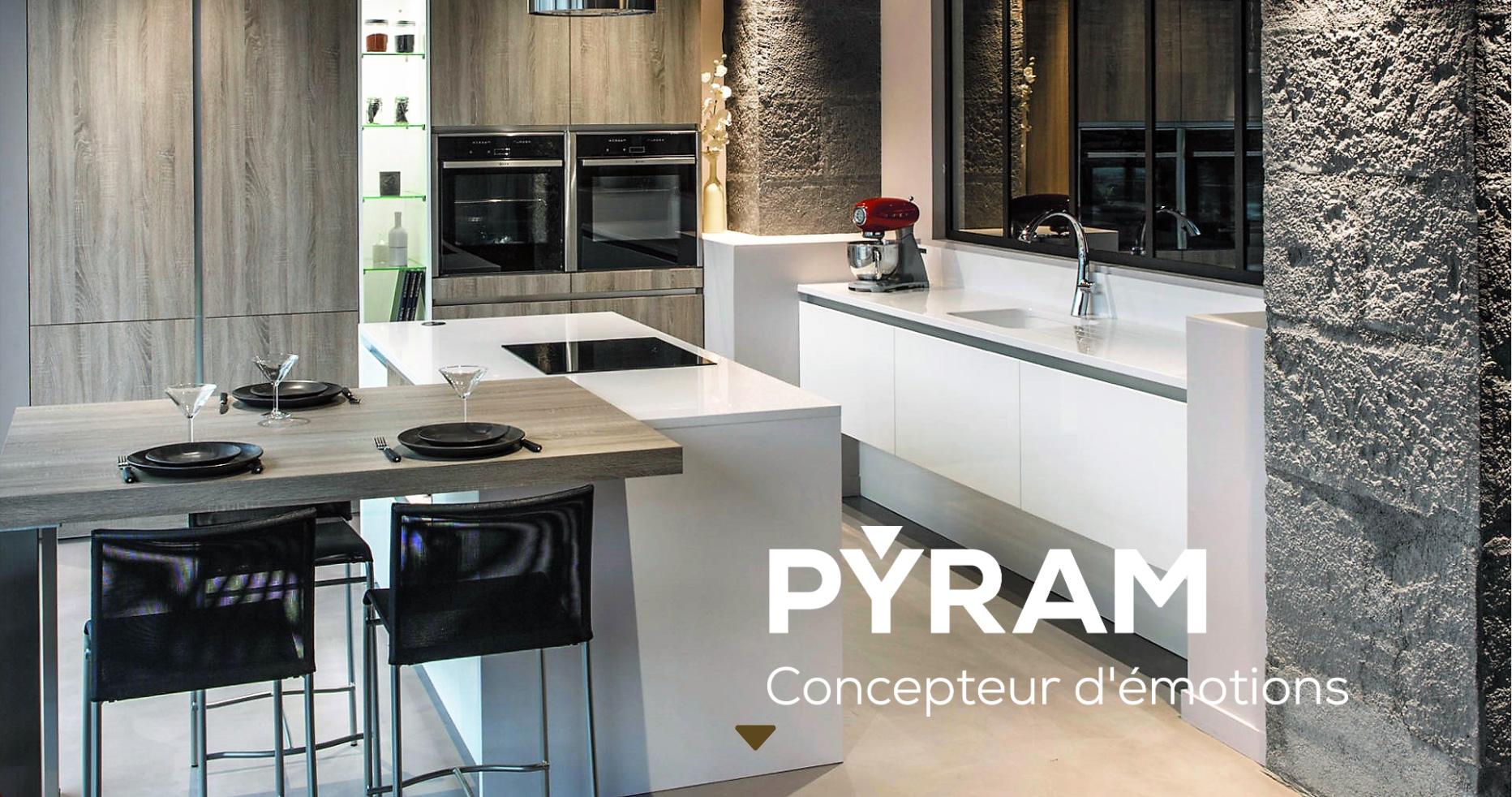 le site internet de pyram fait peau neuve cuisines et bains. Black Bedroom Furniture Sets. Home Design Ideas